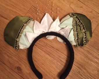 Tiana Mickey Ears, Princess and the Frog Ears, Custom Disney Inspired Ears