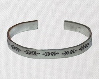 "Ferns Bridesmaid Wedding Bridal Proposal Gift Jewelry Bracelet 1/4"" Food Safe Aluminum Smooth, PolishedTexture"