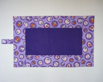 Pokemon print diaper changing pad, waterproof, folding changing mat, purple and lavender, travel baby changing pad, Free shipping