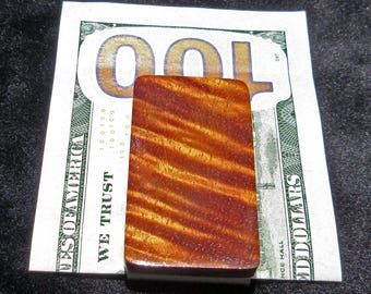 Hawaiian Curly Koa Wood Money Clip