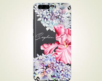 Custom Name Floral Flowers Personalized case P7 case P8 case P9 case P10 Mate 9 case Mate 9 Pro case Mate 7 case Mate 8 case