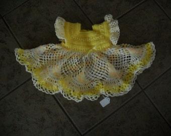 Beautiful NEW Hand Crocheted Dress Baby Girl HI-317