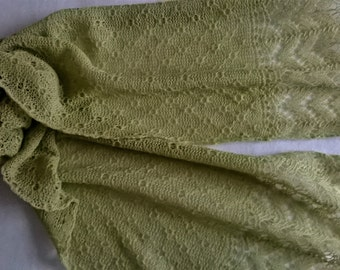 green lace scarf / lime green scarf/ pistachio green scarf/ lace scarf / summer scarf