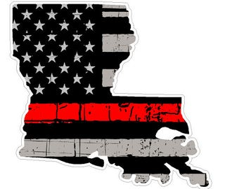 Louisiana State (C19) Thin Red Line Vinyl Decal Sticker Car/Truck Laptop/Netbook Window