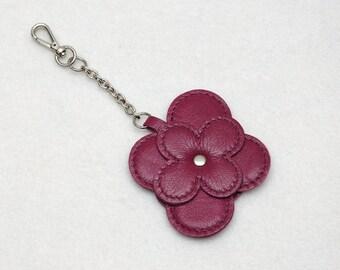 Leather key chain womens keychains Dark pink Leather Keyring Unisex Key Chain Leather key holger Leather key organizer Womens Gift idea