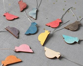 Wooden Birds - Birds - Bird Decorations - Bird - Bright Birds - Easter Decoration - Easter Birds - Painted Hanging Birds - Painted Birds