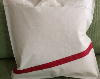 Recycled sailcloth throw pillow