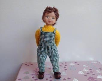 Ooak baby toddler for dollhouse 1/12 art doll