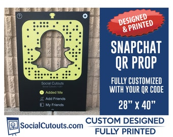 Snapchat Frame QR CODE Printed and Shipped Fully Customized Photo Prop Frame for Corporate Marketing