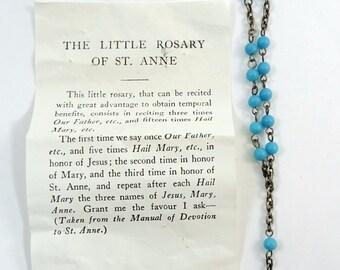 The Little Rosary of St. Anne Vintage Light Blue Chaplet
