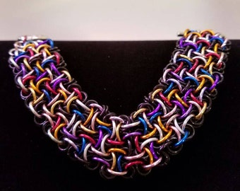 Chainmaille Voodoo Bracelet in Confetti and Black