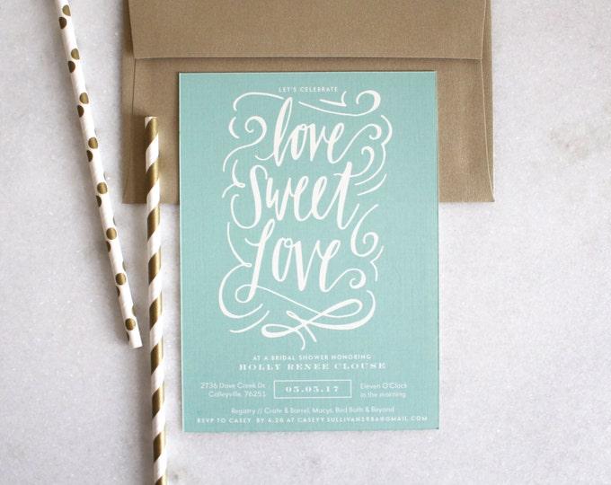 PRINTABLE Bridal Shower Invitation | Love Sweet Love