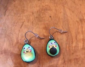 Handmade Avocado Earrings