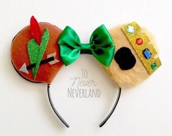 Robin Hood Ears, Disney Robin Hood Ears, Disneyland Ears, Disney Ears Headband, Disney Ears, Mickey Ears, Robin Hood Disneybound PREORDER