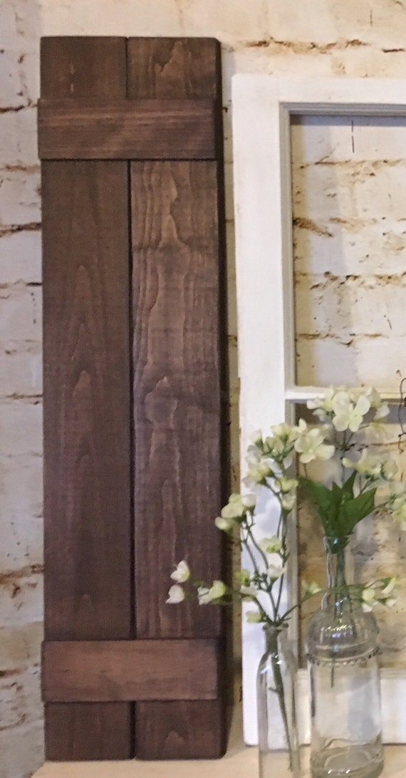 Wooden Shutters Board and Batten Shutters Farmhouse Decor