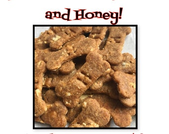 50 count Banana, Peanut Butter and Honey Dog Treats! Homemade/Healthy & Made Fresh to Order!