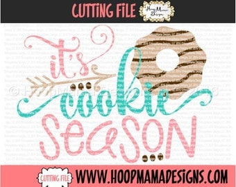 It's Cookie Season SVG DXF eps and png Files for Cutting Machines Cameo or Cricut Christmas SVG
