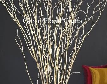 5-6ft Gold Birch Branches, Bulk (20 stems)