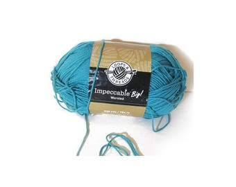 1 Skein Threads & Loops Impeccable Brights Acrylic Yarn, Bright Sky Blue, Machine Wash and Dry, Medium/4, 4.5 oz, 128 grams, 268 Yds