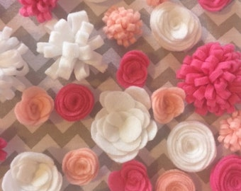 Individual Felt Flowers || Fully Customizable || Various Color Options