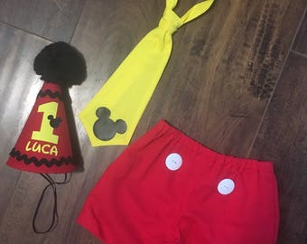 Mickey Mouse Cake Smash Outfit, Cake Smash Outfit, Mickey Mouse First Birthday, Mickey Mouse Diaper Cover, Mickey Mouse Birthday