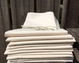 18x24 NATURAL Tea Towel Blanks 100% cotton muslin Kitchen towel screen print embroidery hand dye heat transfer vinyl direct to garment