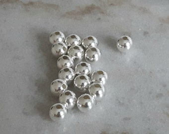 8mm Round Sterling Silver Spacer Beads with 2.0mm diameter hole