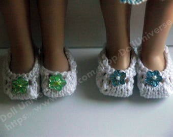 Handknitted Shoes for  Paola Reina and Corolle Les Cheries 13,14 dolls