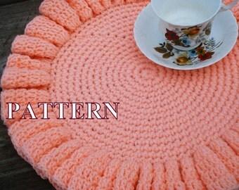 Doily crochet pattern doily pattern crochet pattern ruffle doily crochet doily crocheted doilies crochet pattern doily OlgaAndrewDesigns082