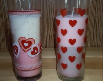 Tall Valentine's Day Soy Candles