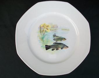 cheap decorative plates vintage plates dinner plates fish plates collectible plates dinner with dinnerware with fish designs. & Dinnerware With Fish Designs. Free Italy Gourmet Bluewhite Salad ...
