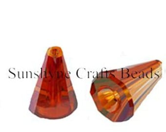 Swarovski Crystal Beads 2 Pcs 5540 CRYSTAL RED MAGMA 12MM Artemis Faceted Bead