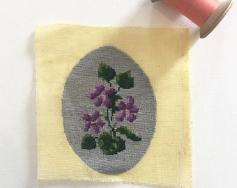Needlepoint Canvas. Flower Canvas. Needlepoint Tapestry. Cross Stitched Tapestry. Nursery Decor. Sewing Projects. French Embroidery. Canevas