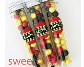 Science Lab Party Favour - Test Tube with Chocolates. Perfect for Science Lab Theme Birthday Party Loot Bags
