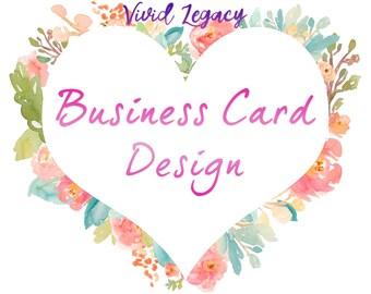 Business Card Design - Custom made