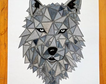 8x10 Wolf Print for nursery or home