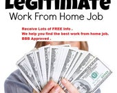 Work At Home Jobs, Work From Home E-Book, Work From home Jobs Directory, Make Money Jobs, Home Jobs For Moms & Dads, How To Make Money