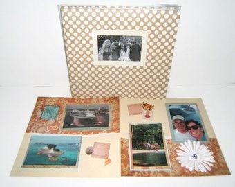 Cruise Scrapbook Album - Travel Scrapbook Album - Premade Travel Scrapbook Album - Cruise Vacation Scrapbook Album - Premade Travel Album