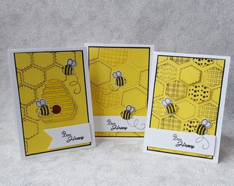 Bee Themed Note Cards | Greetings Cards | Handmade | Note Card Set