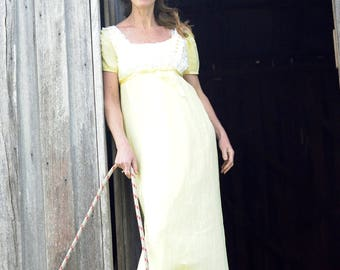 vintage folk country dress. 1960s bridesmaid