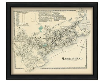 Village of Marblehead 1872 Map