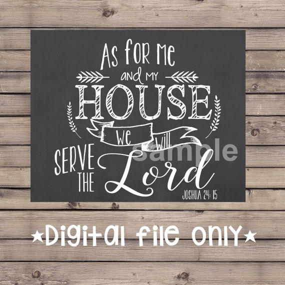 As For Me And My House Wall Art as for me and my house sign/bible verse chalkboard/bible verse
