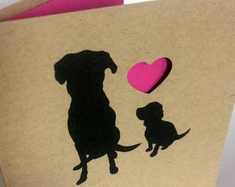 Dog Mother's Day Card, Dog Father's Day Card, Dog Valentine's Day Card, Pet Lover Card, Love You Card