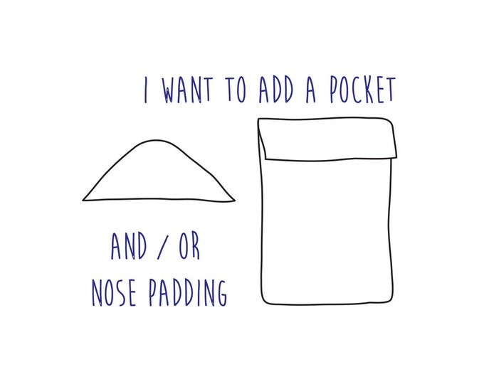 Pocket and/or Nose Padding Surfsock Add-ons