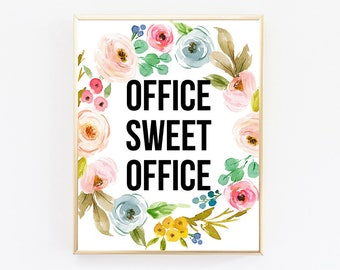 Office Sweet Office, Office Decor, Office Desk Accessories, Office Supplies, Wall Art Prints, Wall Art Quotes, Best Selling Items, Printable