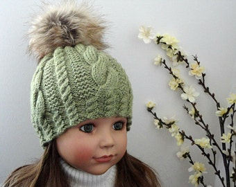 Women Hat Crochet Beanie Knitted Hat Girls Hat Children Crochet Hat Womens Winter Hat PomPom
