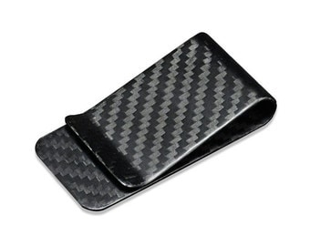 Glossy Real Carbon Fiber Money Clip, Wallet Clip, Front Pocket Minimalist Strong and Lightweight, Corporate Gifts