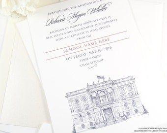University of Oklahoma Graduation Announcements, Grad Party Invitation, Grads, College (set of 25 cards and envelopes)