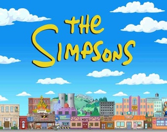 The simpsons Birthday Banner