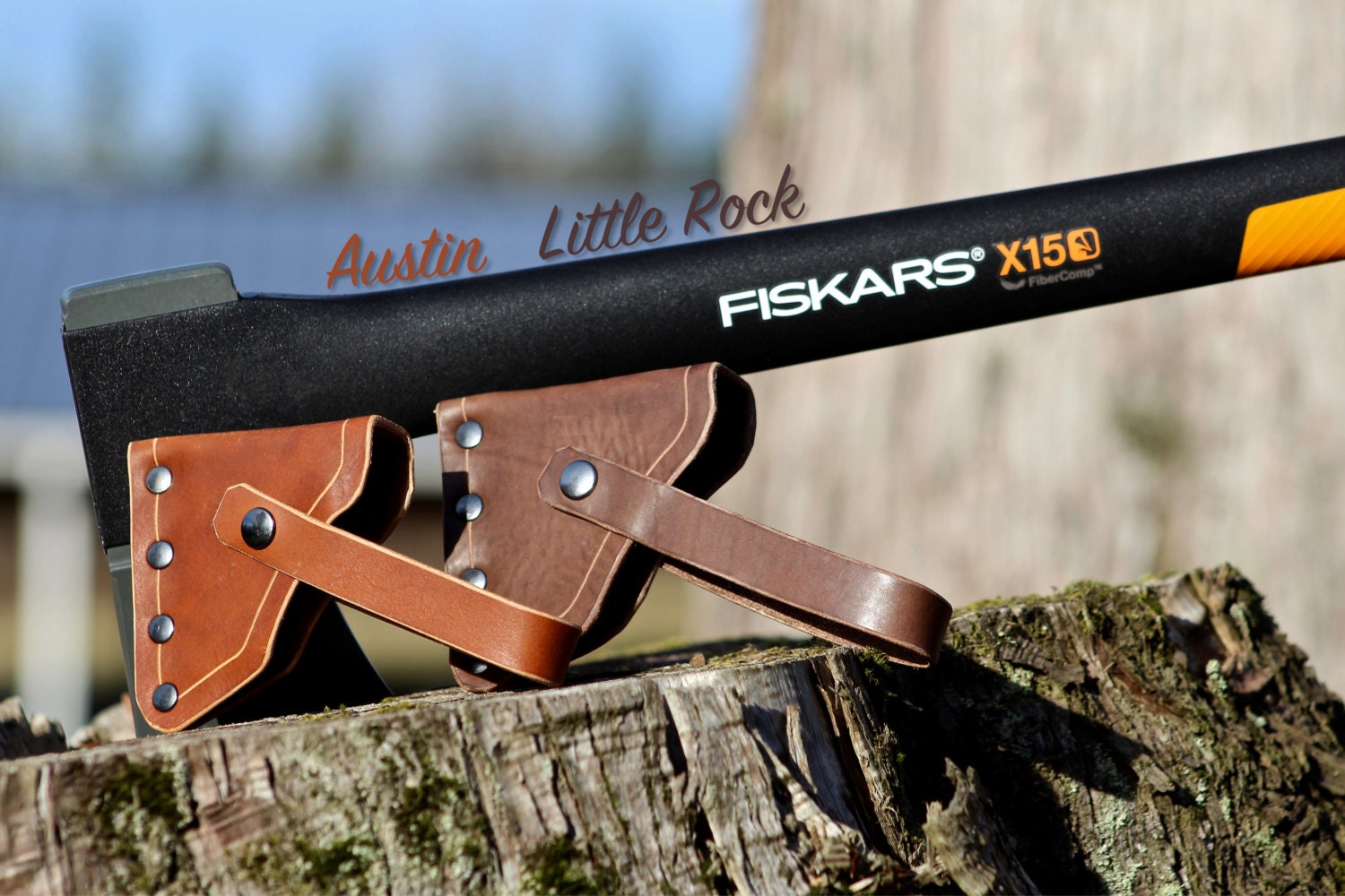 leather axe sheath for fiskars x series for x7 x11 x15. Black Bedroom Furniture Sets. Home Design Ideas